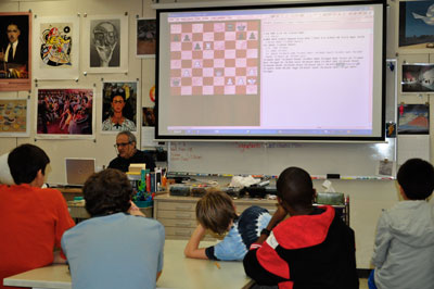 GM Gurevich teaches at Warren Scholar seminar